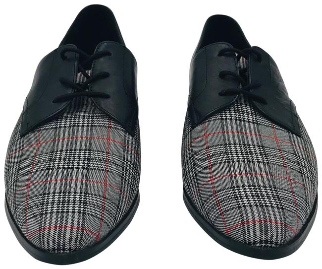 Item - Grey Checked Leather Formal Shoes Size US 10.5 Regular (M, B)
