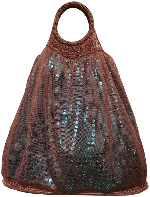 Item - Summer Beg Brown/Blue Polyester Tote