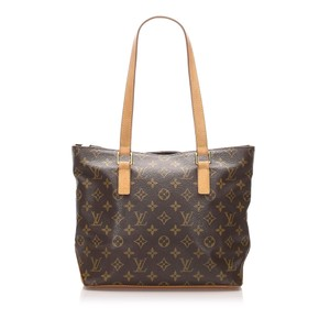 Louis Vuitton Bpj0flvsh033 Vintage Leather Tote in Brown