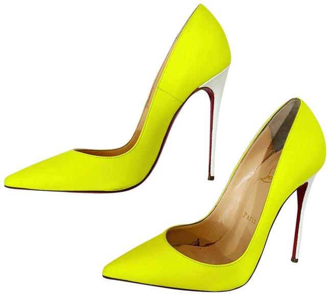 Item - Yellow/White So Kate Bi-color Heels Pumps Size EU 37.5 (Approx. US 7.5) Regular (M, B)