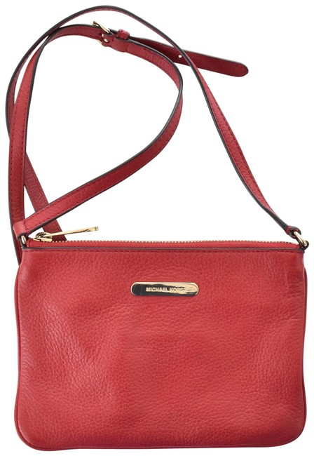 Item - Genuine Flat Small Purse Red Leather Cross Body Bag