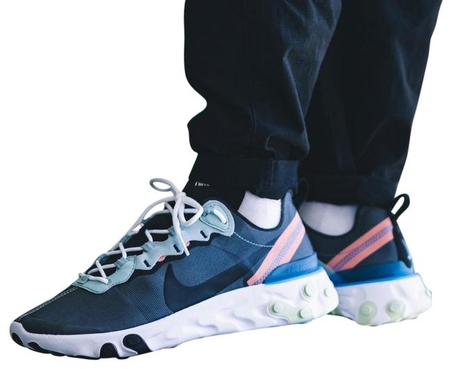 Item - Gray Women's React Element 55 Ocean Details Lightweight Textile Upper Has A High Sheen For An Elevated Sneakers Size US 8 Narrow (Aa, N)