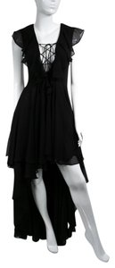Black Maxi Dress by The Jetset Diaries Laceup High-low Hi-lo