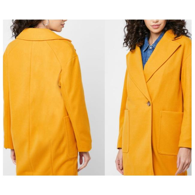 Item - Yellow Oversize Slouch Carly Women's Coat Jacket Button-down Top Size 4 (S)