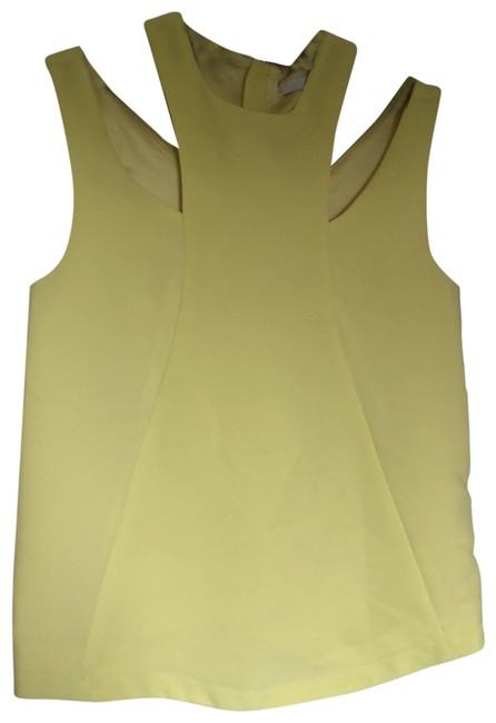 FRNCH Yellow Cutout Strappy Sleeveless Blouse Size 8 (M) FRNCH Yellow Cutout Strappy Sleeveless Blouse Size 8 (M) Image 1