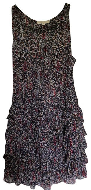 Sandro Black Paisley Sleeveless Ruffle Short Casual Dress Size 4 (S) Sandro Black Paisley Sleeveless Ruffle Short Casual Dress Size 4 (S) Image 1