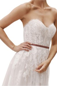 watters Wedding Lace Strapless Gown Dress