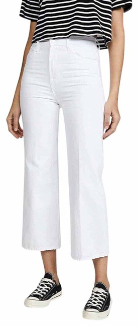 Item - White Joan High Rise Cropped Trouser/Wide Leg Jeans Size 26 (2, XS)