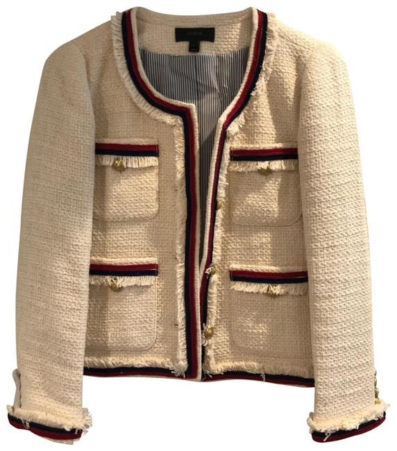 Item - Cream Blue Red Gold Jacket Size 6 (S)