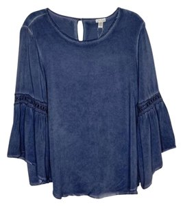 Spense Boho Chic Oversized Freepeople Anthropologie Top Blue