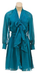 Rachel Zoe short dress Teal on Tradesy