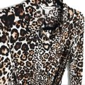 Whistles Tan Brown Esme Wrap Front Shirt Leopard Print Mid-length Work/Office Dress Size 4 (S) Whistles Tan Brown Esme Wrap Front Shirt Leopard Print Mid-length Work/Office Dress Size 4 (S) Image 11