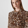 Whistles Tan Brown Esme Wrap Front Shirt Leopard Print Mid-length Work/Office Dress Size 4 (S) Whistles Tan Brown Esme Wrap Front Shirt Leopard Print Mid-length Work/Office Dress Size 4 (S) Image 8