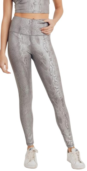 Item - Silver M Aph2818 Snake Print Snakeskin High Rise Yoga Activewear Bottoms Size 8 (M, 29, 30)