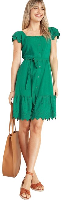 Item - Green Eyelet Short Casual Dress Size 4 (S)