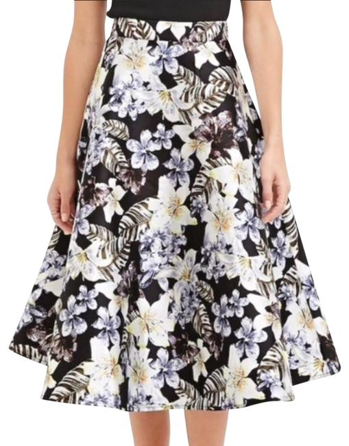 Item - Multicolor Flared Lily Floral Skirt Size 4 (S, 27)