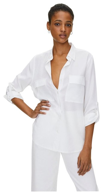 Item - White The Group By Babton Utility Button Up Button-down Top Size 00 (XXS)