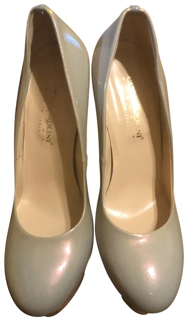 Item - Gray Couture Patent Leather Iridescent Platform Stiletto - Pumps Size EU 40 (Approx. US 10) Regular (M, B)