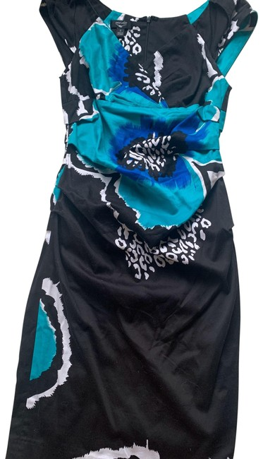 Preload https://img-static.tradesy.com/item/27563245/suzi-chin-black-green-floral-mid-length-workoffice-dress-size-2-xs-0-1-650-650.jpg