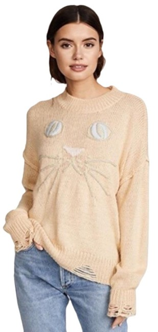 Item - Kitty Whiskers Carine Knit Cream Sweater