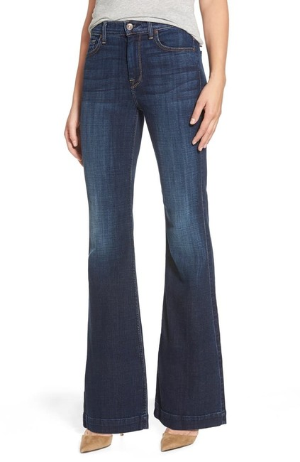 Item - Dark Blue Rinse High Waisted Ginger Flare Leg Jeans Size 0 (XS, 25)