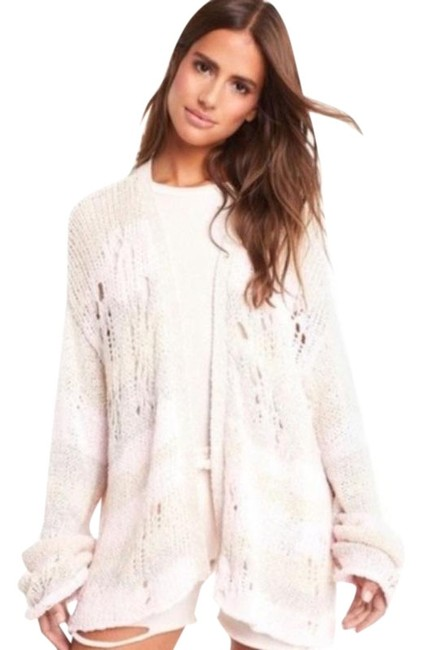 Item - Cream Pink Yara Distressed Dolman Cardigan Size 4 (S)