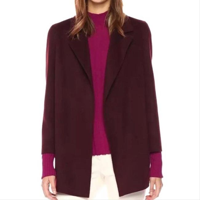 Item - Burgundy Red Wine Clariene Clairene Open Cashmere Wool Sweeter Coat Jacket Size 2 (XS)