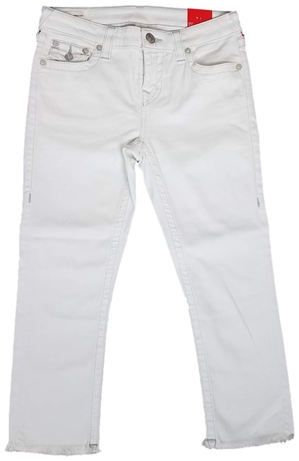 Item - White Light Wash Hale Midrise Capri/Cropped Jeans Size 29 (6, M)