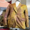 The People Of The Labyrinths Mustard Hombre Cotton Jacket Blazer Size 4 (S) The People Of The Labyrinths Mustard Hombre Cotton Jacket Blazer Size 4 (S) Image 2