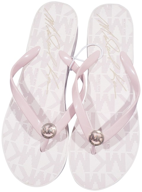Item - Pink Mk Womens Logo Thong Wedge High (8) Sandals Size US 8 Regular (M, B)