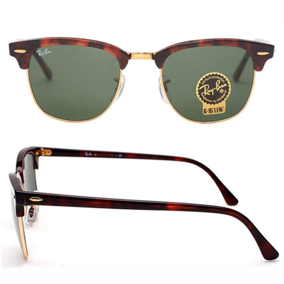 5a69b29aabe ... sunglasses rb3016 w0366 49 11445 2d3d6 authentic ray ban authentic ray  ban clubmaster rb3016 w0366 tortoise frame g 15 dark green 99216 ...