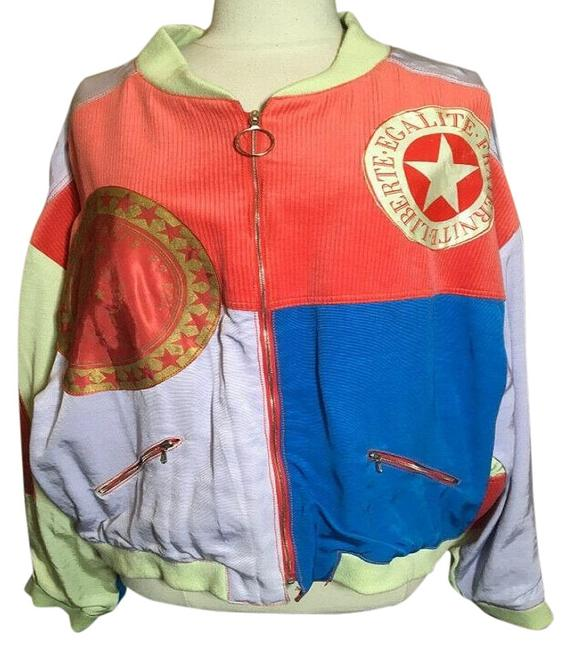 Item - Orange Star Bomber Jacket Size 16 (XL, Plus 0x)