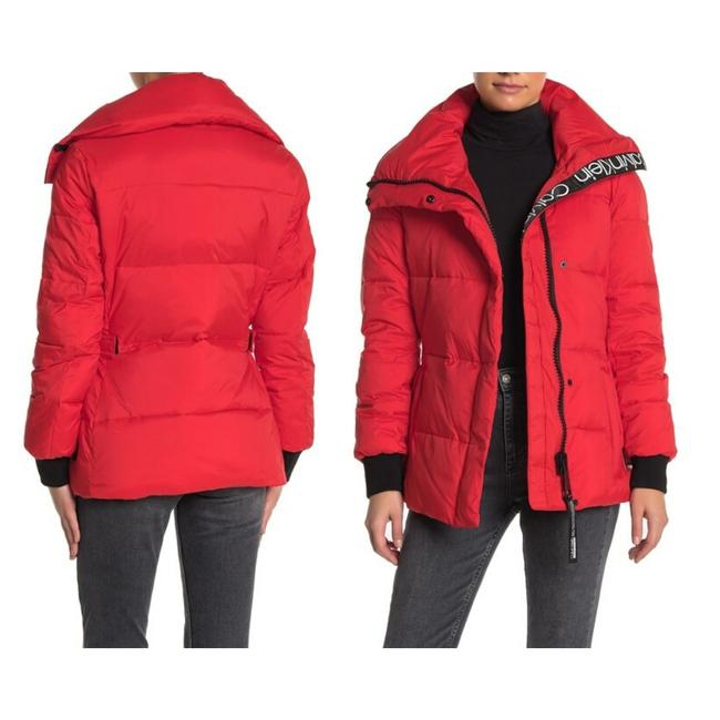 Item - Red Quilted Long Sleeves Puffer Women's Jacket Small Sweatshirt/Hoodie Size 4 (S)