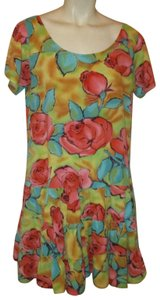 Jams World short dress multi Vintage Baby Doll Floral Tiered Oneam002 on Tradesy