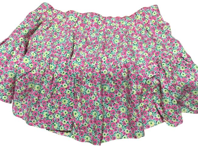 Item - Multy Color Yellow Pink Green Navy Blue Sku#26619-999-y55 Merrick Skirt Size OS (one size)
