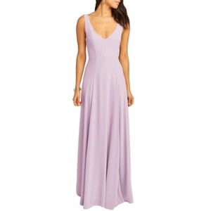 Show Me Your MuMu Bridesmaid V Neck Chiffon Dress