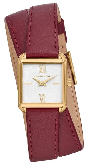 Item - Red/Gold-tone Women's Lake Two-hand Leather Mk2761 Watch