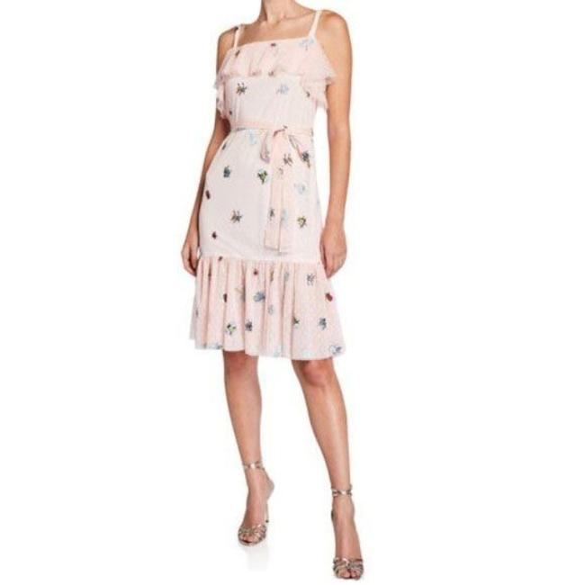 Item - Pink Frilly Bugs Ruffle Mid-length Short Casual Dress Size 12 (L)