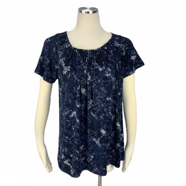Item - Blue Small Pleated Blouse Size 4 (S)