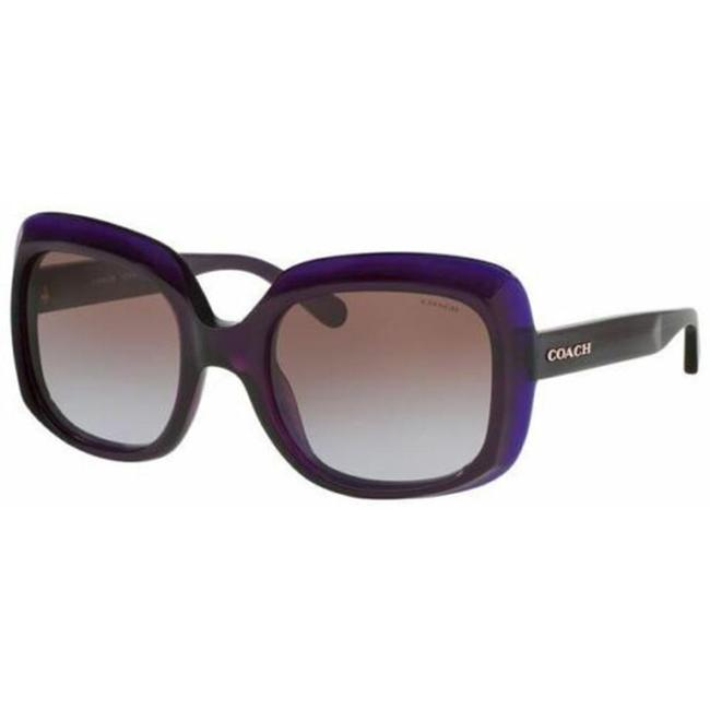Item - Purple Frame & Brown Gradient Lens Hc8194 524968 Women's Squared Sunglasses