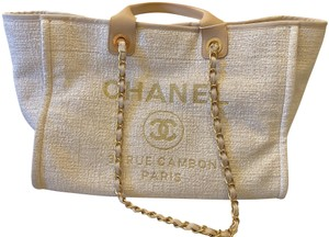 Chanel Tote in Beige Cream