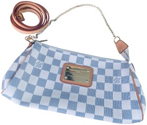 Louis Vuitton Crossbody White, tan and navy accent Clutch