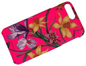 Gucci NEW Case Gucci IPhone 8 Plus Pink Flower