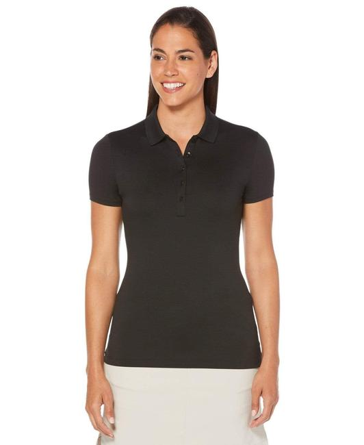 Item - Caviar Women's Core Solid Micro Hex Golf Polo Activewear Top Size 12 (L)