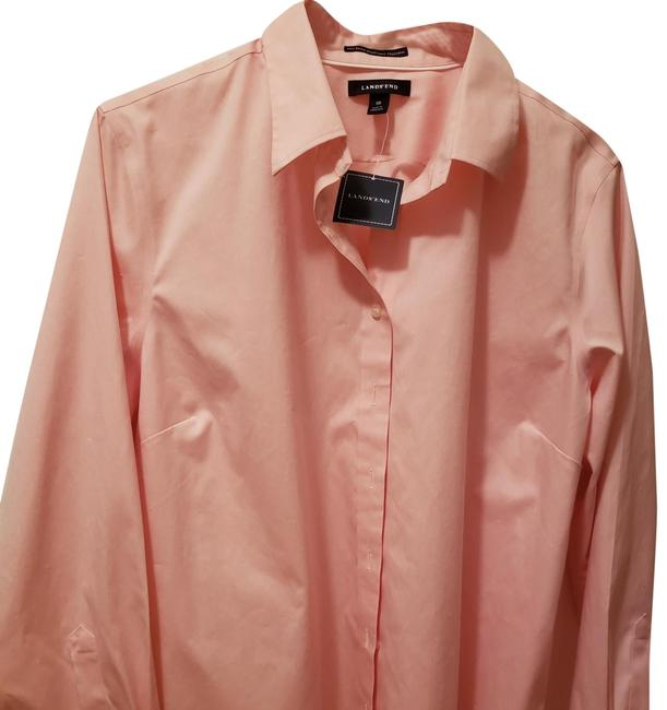 Item - Pearl Pink Ladies No Iron Pinpoint Oxford Button-down Top Size 18 (XL, Plus 0x)