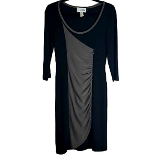 Item - Black Gray 3/4 Sleeve Ruching Short Night Out Dress Size 6 (S)