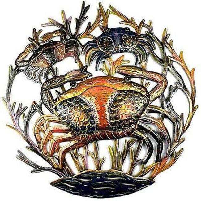 Painted Crab Wall Art 24 Inch Painted Crab Wall Art 24 Inch Image 1