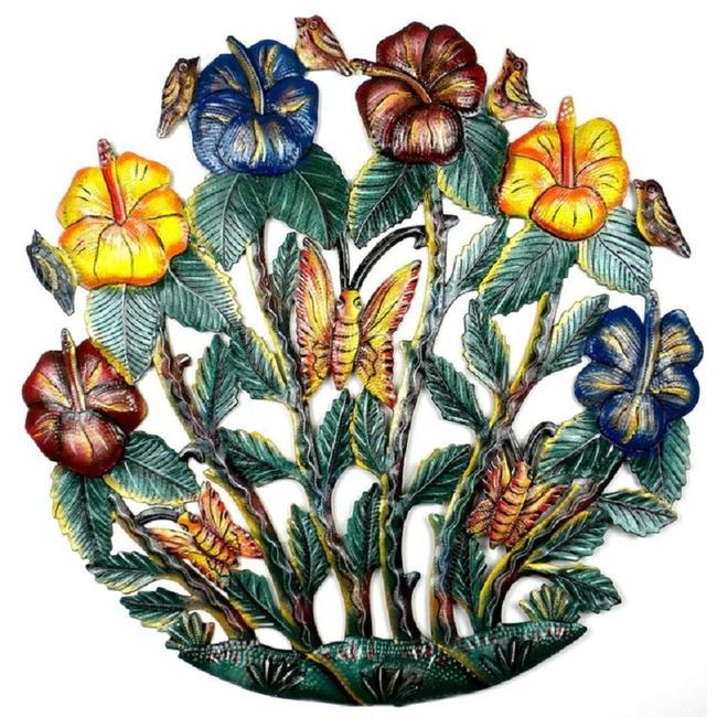 Painted Flower Garden Wall Art 24 Inch Painted Flower Garden Wall Art 24 Inch Image 1