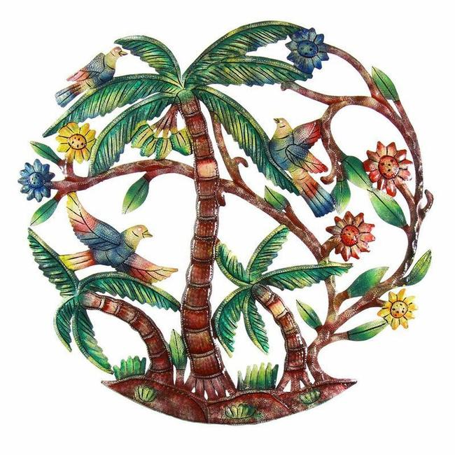Painted Palm Tree Wall Art 24 Inch Painted Palm Tree Wall Art 24 Inch Image 1