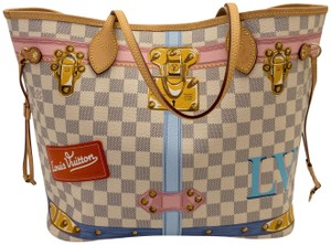 Louis Vuitton Neverfull Damier Summer Trunk Mm Tote in Blue